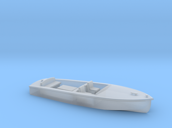 Classic RUNABOUT HO Scale Boat 3d printed