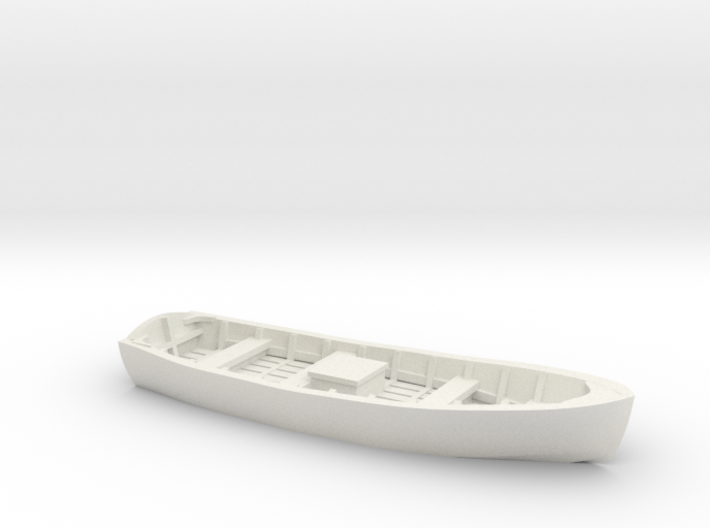 Wooden SKIFF BOAT O Scale 3d printed