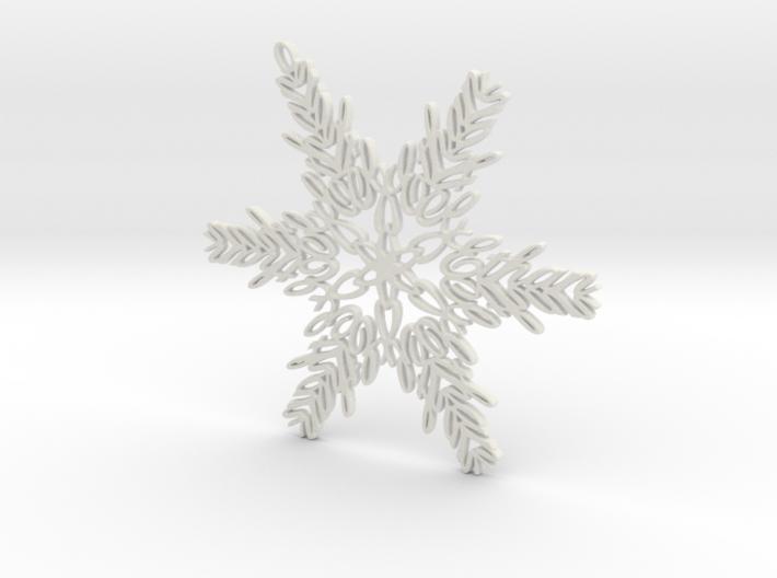 Ethan snowflake ornament 3d printed