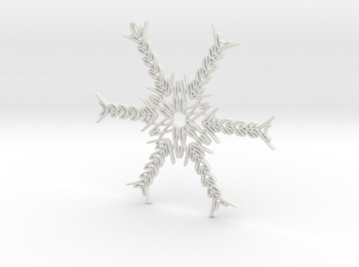 Hannah snowflake ornament 3d printed