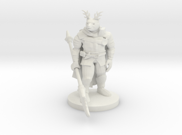 Were Bear Knight with Antlers 3d printed