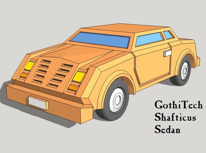 6mm GothiTech Cars (10pcs) 3d printed