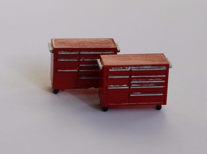 HO Scale 2x Snap-On Toolbox 3d printed Painted set of toolboxes