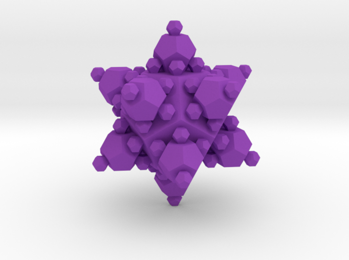 Small Dodecahedron approximated by dodecahedra 3d printed