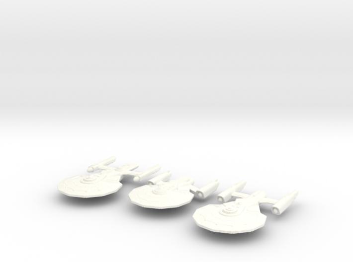 3 Starship Variants 3d printed