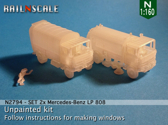 SET 2x Mercedes-Benz LP 808 (N 1:160) 3d printed