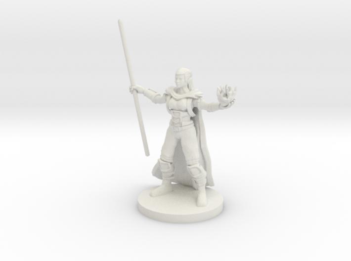 Half Elf Warlock 2 3d printed