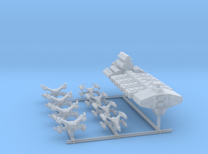 EA Poseidon Carrier Group Full Thrust Scale 3d printed