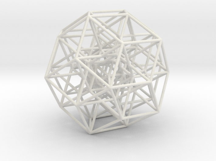 6D cube projected into 3D-thin struts 3d printed
