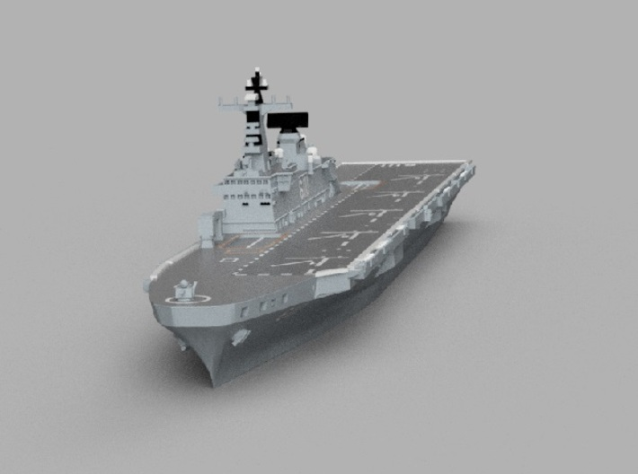 1/1800 ROKS Dokdo 3d printed Computer software render.The actual model is not full color.
