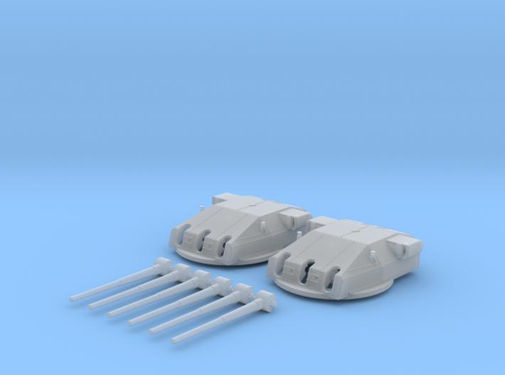 "1/128 DKM Graf Spee Turrets 28cm/52 (11"") SK C/28 3d printed 1/128 DKM Graf Spee Turrets 28cm/52 (11"") SK C/28"