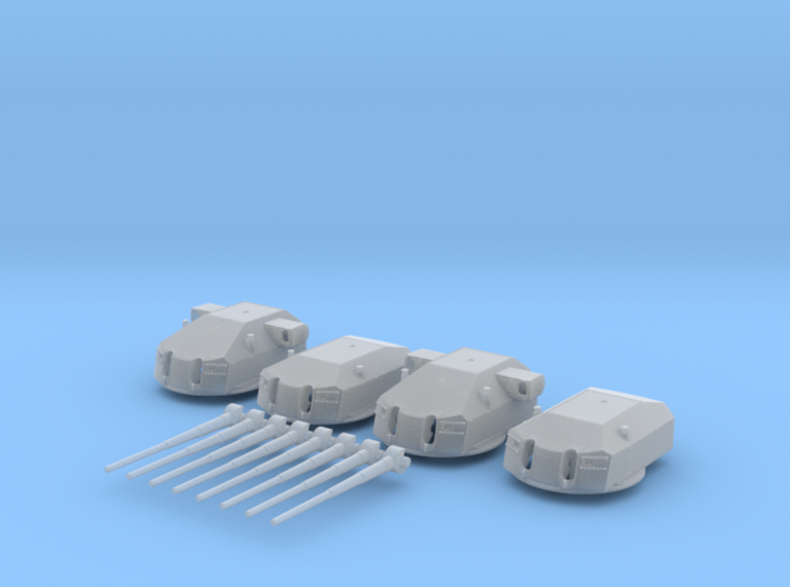 "1/128 Prinz Eugen 20.3cm/60 (8"") Guns with Barrels 3d printed 1/128 Prinz Eugen 20.3cm/60 (8"") Guns with Barrels"