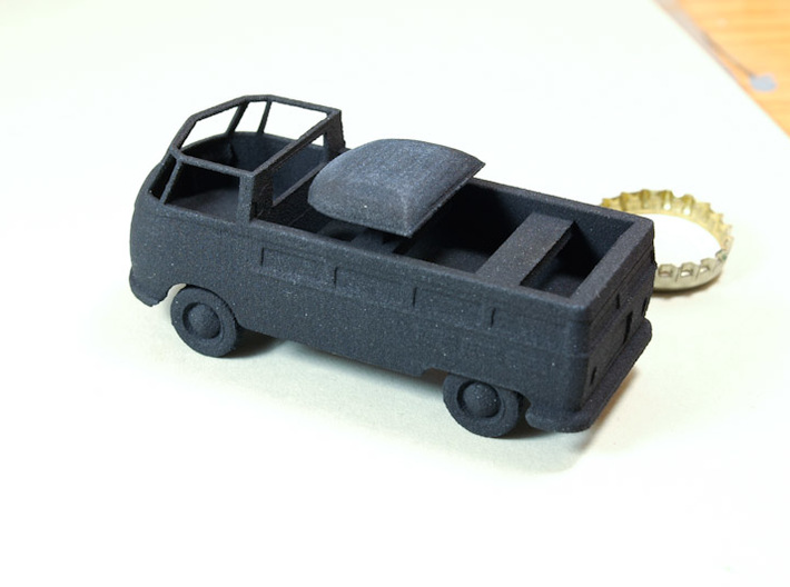 1/48 VW Type 26 3d printed As printed in Black Strong and Flexible material