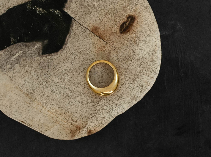 Norm Ring 3d printed 18k Gold Plated