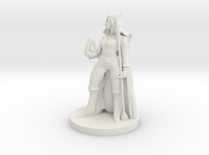Tiefling Female Sorceress 3d printed