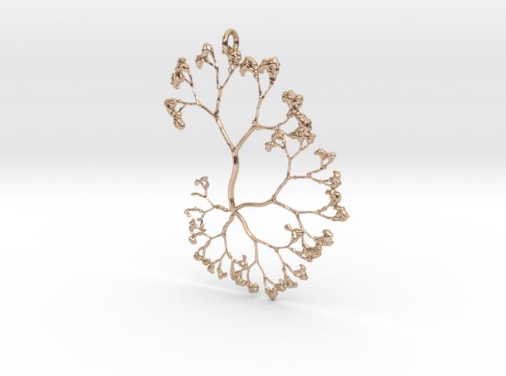 Fractal Trees Pendant 3d printed