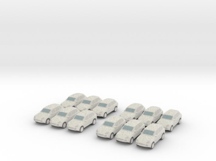 12 Wrapped SUVs (N 1:160) 3d printed