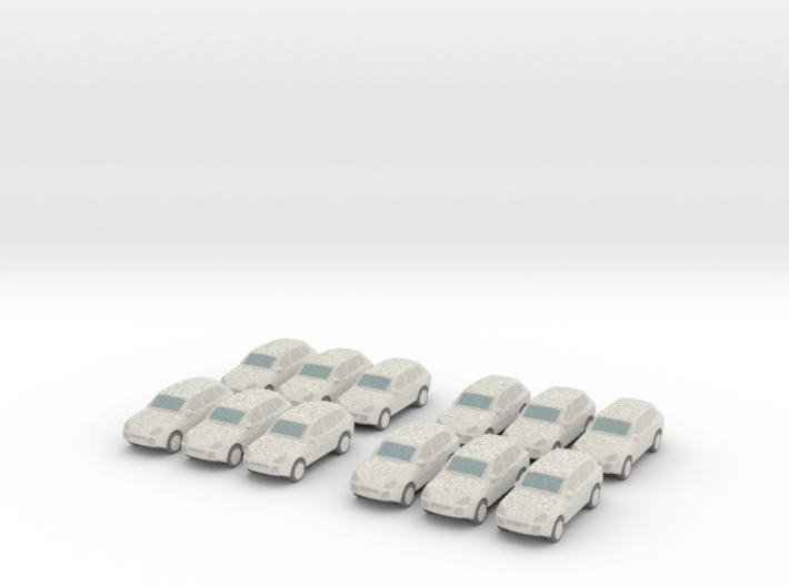 12 Wrapped SUVs (N 1:160) 3d printed