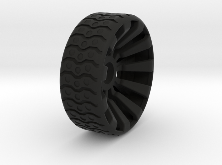 2 Inch Airless Tire for Use with 1/2 Inch Bearing 3d printed