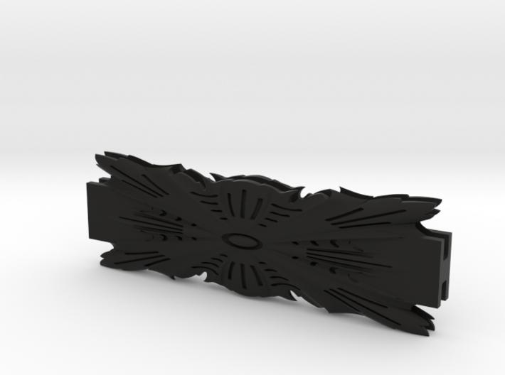 Glass House Leaf Pattern Coupler Bracket 6-INCH-LE 3d printed