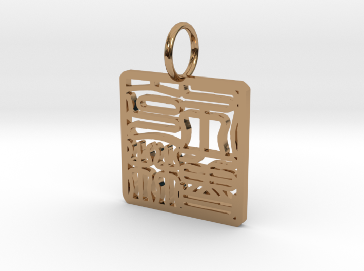 Brooklyn Necklace Pendant 3d printed