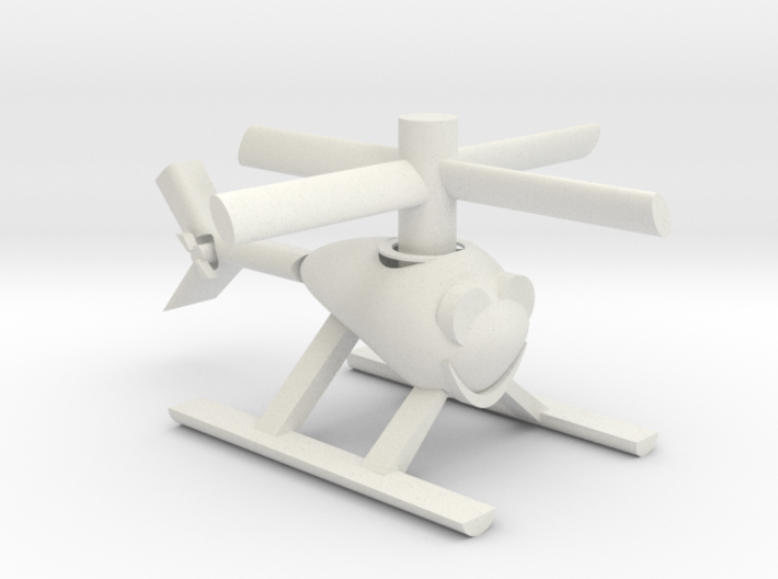 Happy Heli with moving parts 3d printed