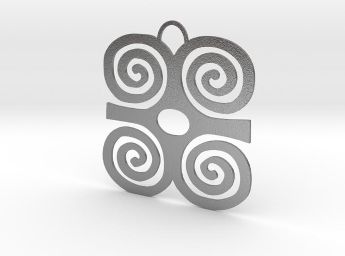 Adinkra Symbol of Strength Pendant 3d printed