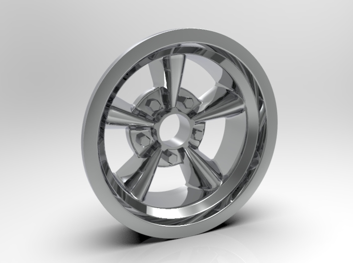 1:25 Front American Five Spoke Wheel 3d printed Render Version Shown
