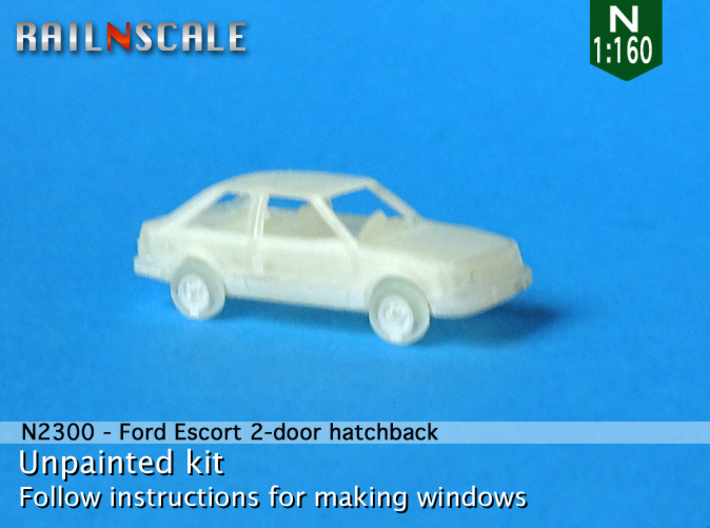 Ford Escort 2-door hatchback (US) (N 1:160) 3d printed