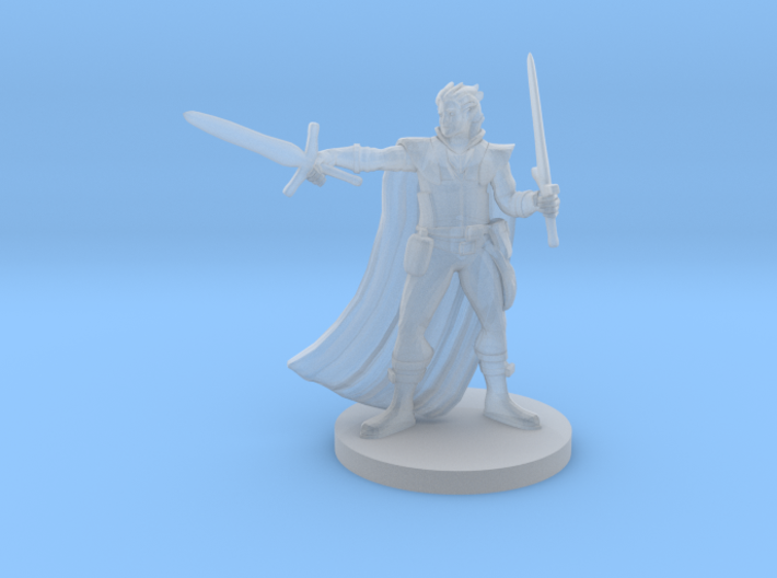 Half Elf Two Weapon Fighter 3d printed