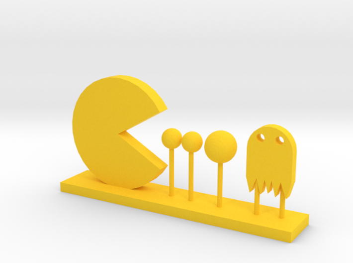 Pacman and Ghost 3d printed