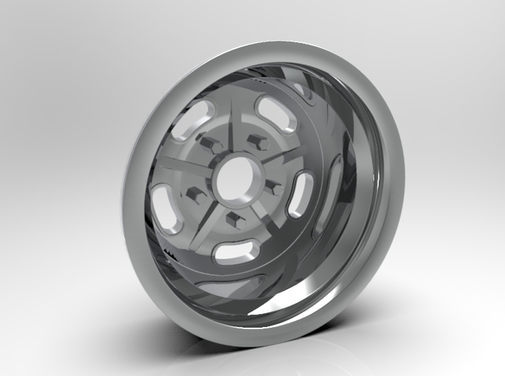1:8 Rear Halibrand Style Salt Flat Wheel 3d printed