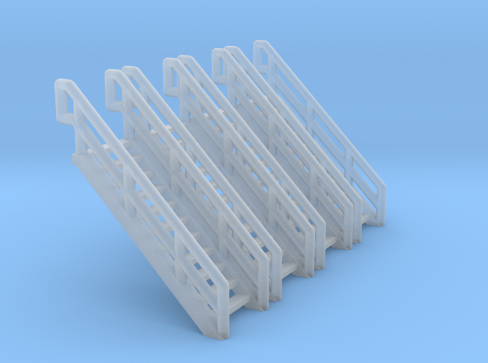 Z Scale Industrial Stairs 11 (4pc) 3d printed