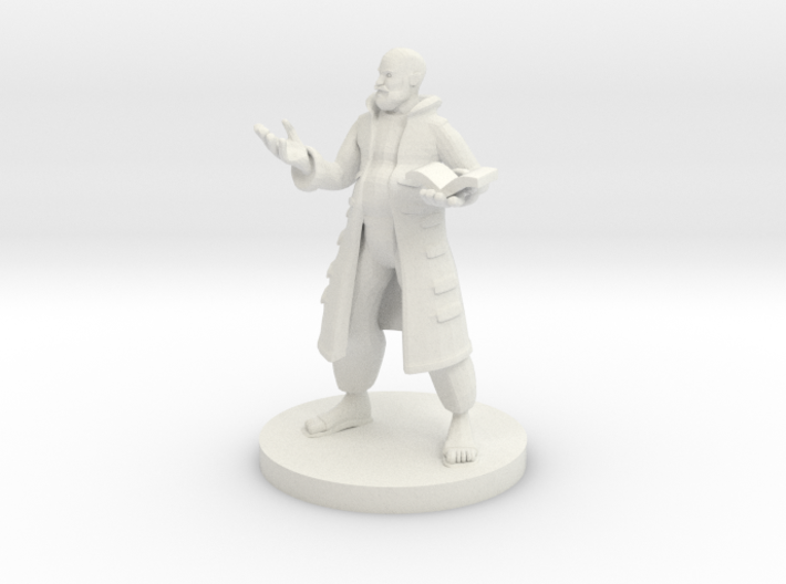 Human Wizard with Pot Belly 3d printed