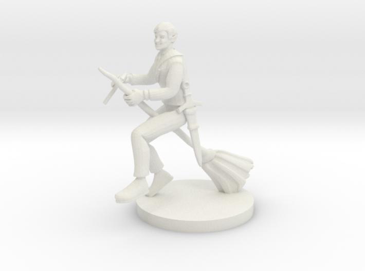 Bard on a Broom 3d printed