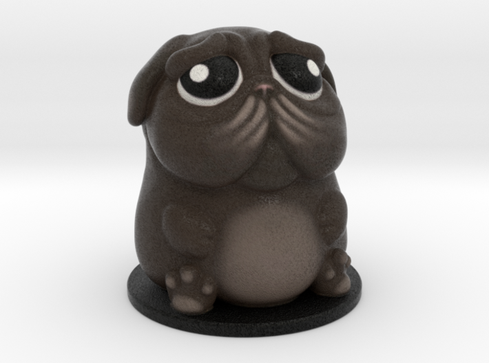 DoggyPop Pug Black 3d printed