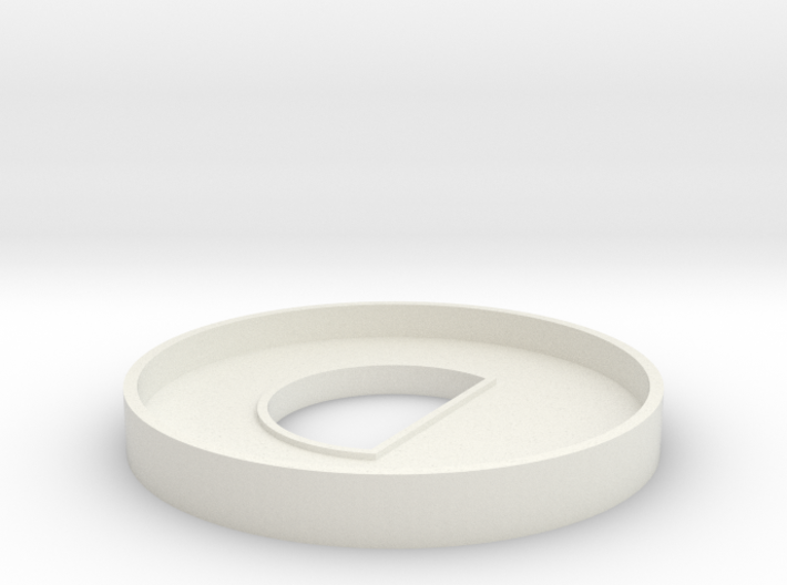 HIC 40mm Ring with D 3d printed