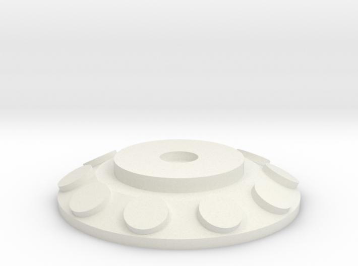 HIC Round Flat 3d printed