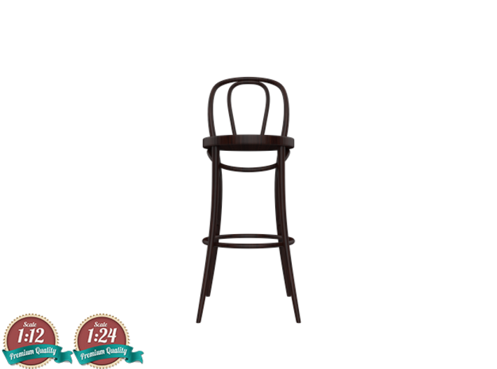 Miniature No18 Thonet Barstool  3d Printed  Thonet Bar Stool30