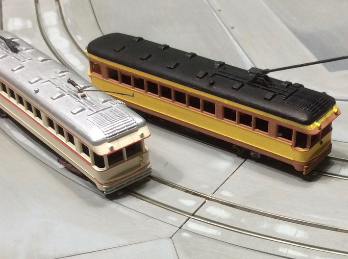 #160-1004 CRANDIC Lightweight Interurban 3d printed CRANDIC (right) LVT (left)