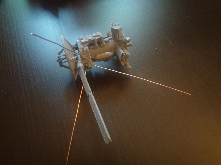 Cassini Spacecraft with removable Huygens Probe 3d printed A home-printed version