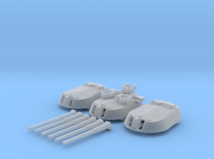 1/700 MKI* HMS Renown Guns 1942 3d printed 1/700 MKI* HMS Renown Guns 1942