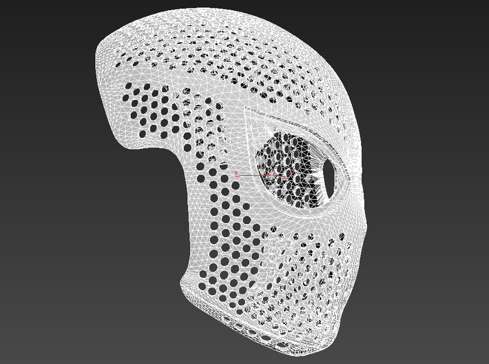 Homecoming Face Shell – Costume Mask SpideyPlanet 3d printed