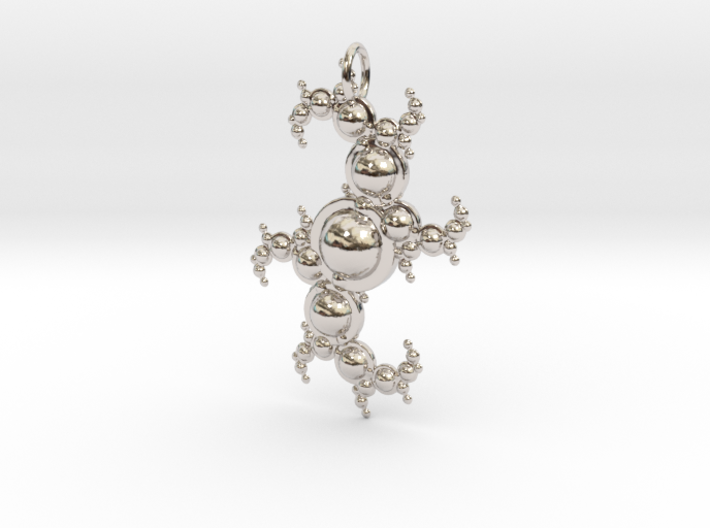 Fractal pendant with spheres 3d printed