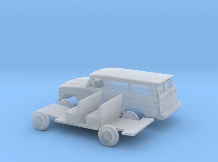 1/87 1963-66 Chevrolet Suburban Split Door Kit 3d printed
