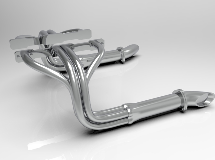 1:8 Small Block Chevy Custom Headers 3d printed
