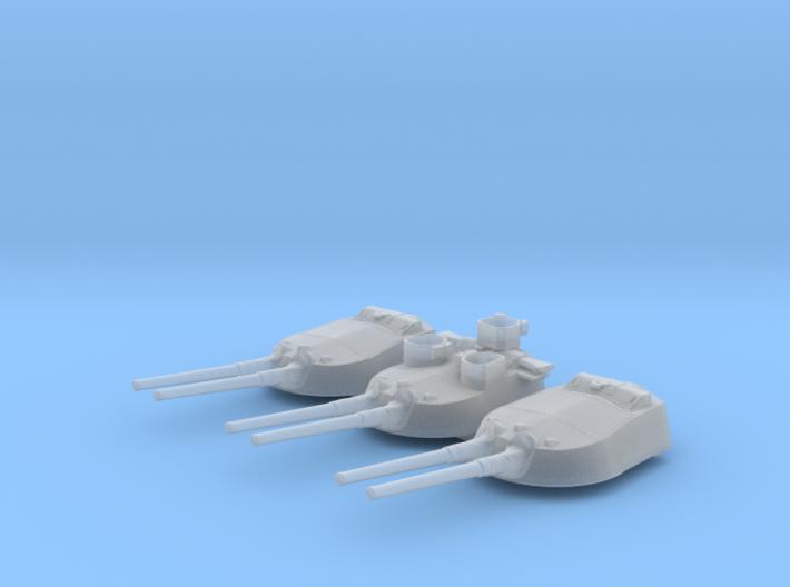 1/700 MKI* HMS Renown Guns 1942 with Blast Bags 3d printed 1/700 MKI* HMS Renown Guns 1942 with Blast Bags