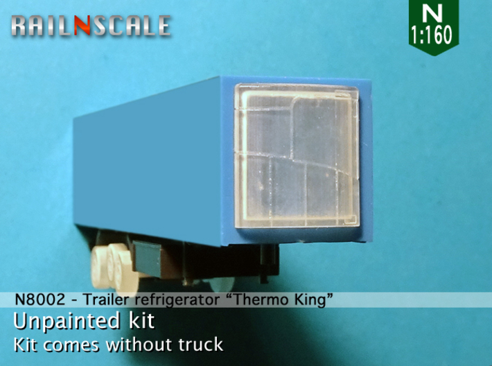 """Trailer refrigerator """"Thermo King"""" (N 1:160) 3d printed"""