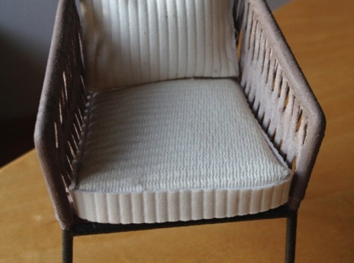 1:12 Chair Braided for patio or inside 3d printed another view..