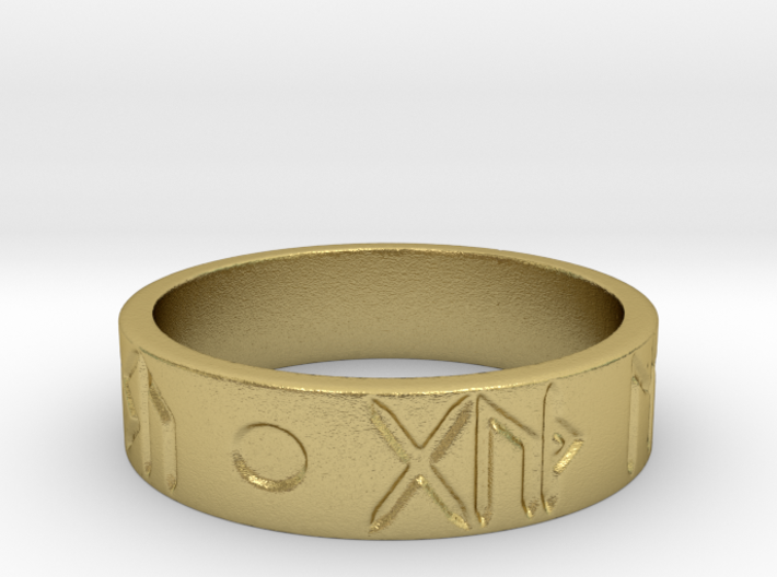 Good Health & Good Fortune Icelandic Ring 3d printed